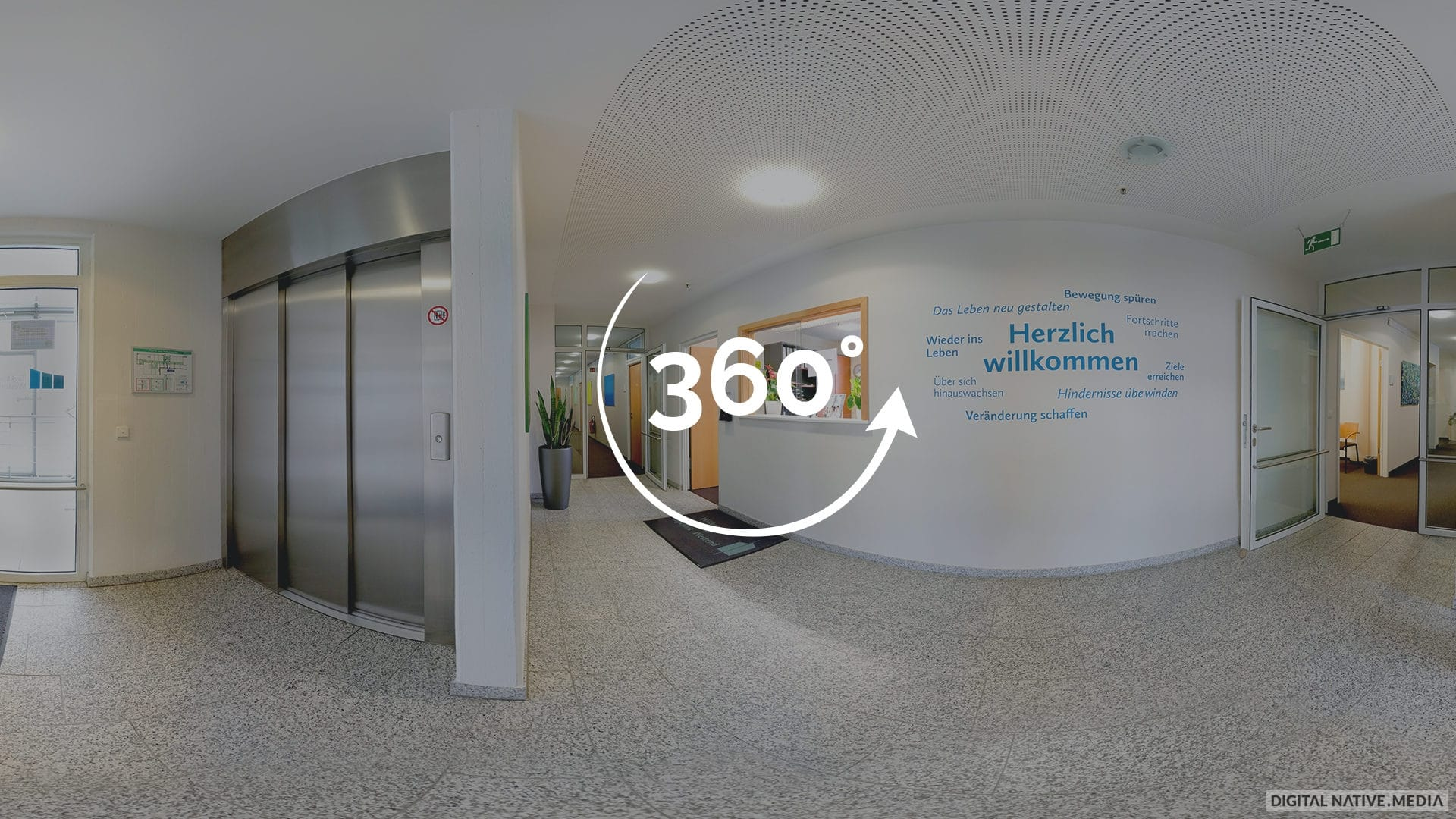 360°-Video der Tagesklinik Westend in München. Gedreht von Digital Native Media