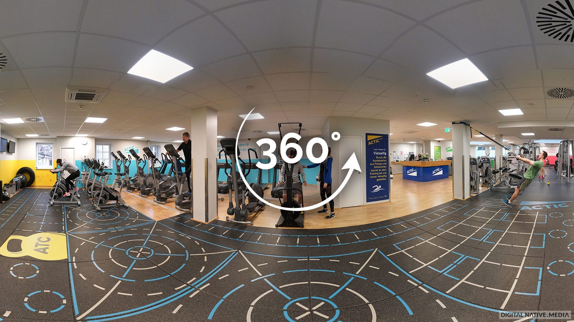 360°-Video vom Fitnessstudio Actic in Bayreuth gedreht von Digital Native Media